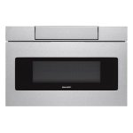 Sharp Appliances24 in. 1.2 cu. ft. 950W Sharp Stainless Steel Microwave Drawer Oven