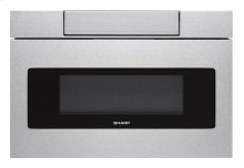 24 in. 1.2 cu. ft. 1000W Sharp Stainless Steel Microwave Drawer Oven (SMD2470AS)