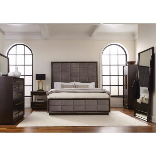 Smoked Peppercorn California King Panel Bed