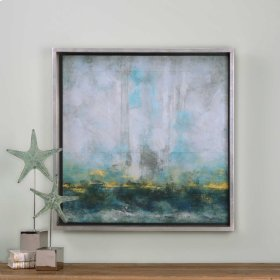 Aqua Blue Framed Print