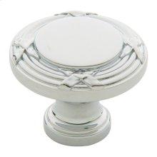 Polished Chrome Round Edinburgh Knob
