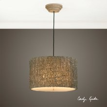 Knotted Rattan Light, 3 Lt. Pendant