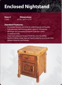 Enclosed Nightstand- Traditional