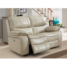 Power Reclining Love Seat in Cheyenne-Pearl