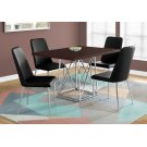 """DINING TABLE - 36""""X 48"""" / CAPPUCCINO / CHROME METAL Product Image"""