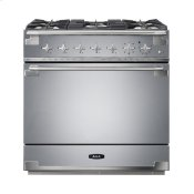 AGA Elise 36 Dual Fuel Stainless Steel with Chrome trim
