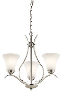 Keiran 3 Light Chandelier Brushed Nickel
