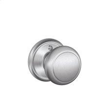 Andover Knob Non-turning Lock - Satin Chrome
