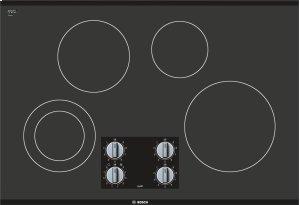 "500 Series, 30"" KNOB CNT, 4 ELEMENT, ELEC. C-TOP BLACK Product Image"