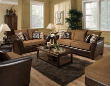 Too Good Chocolate Sofa and Loveseat