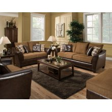Too Good PU Chocolate Combo Loveseat