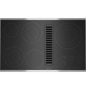 Electric Radiant Downdraft Cooktop with Electronic Touch Control, 36