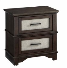 Nightstand - Chocolate/Champagne Finish