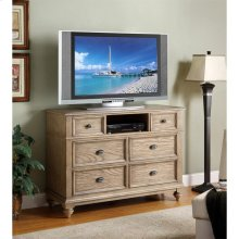 Coventry - Entertainment Chest - Weathered Driftwood Finish