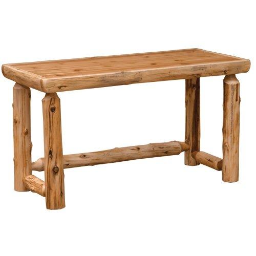 Simplified Open Writing Desk - Natural Cedar - Liquid Glass