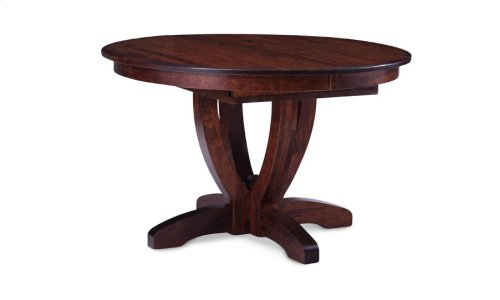 Brookfield Single Pedestal Table, Solid Top