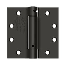 "4 1/2""x 4 1/2"" Spring Hinge, UL Listed - Oil-rubbed Bronze"