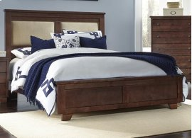 4/6 - 5/0 Full/Queen Upholstered Bed - Espresso Pine Finish