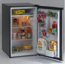 4.4 CF Counterhigh Refrigerator - Black w/Stainless Steel Door