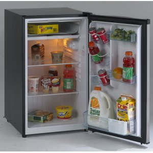 Avanti4.4 CF Counterhigh Refrigerator - Black w/Stainless Steel Door
