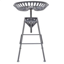 Tractor Adjustable Stool in Gunmetal