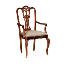 Mahogany 18Th Century Style Dining Chair (Arm)