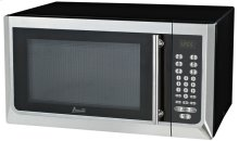 1.6 CF Touch Microwave - Black w/Stainless Steel Door Front and Handle