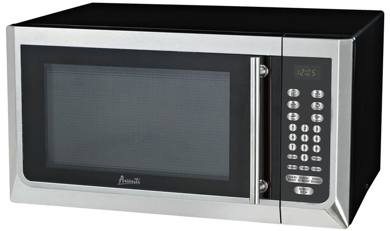 Mt16k3s In Black W Stainless Steel Door Front And Handle By Avanti Rockport Me 1 6 Cf Touch Microwave