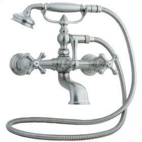 Asbury - Claw Foot Bathtub Filler with Handshower - Brushed Nickel