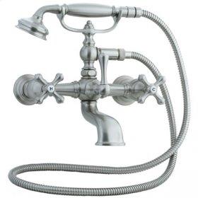 Asbury - Claw Foot Bathtub Filler with Handshower - Aged Brass