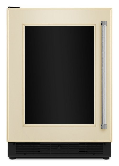 """24"""" Panel Ready Beverage Center with Glass Door - Stainless Steel"""