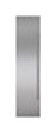"Built-In 36"" Stainless Steel Flush Inset Freezer Door Panel with Pro Handle"