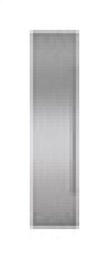 "Built-In 48"" Stainless Steel Flush Inset Freezer Door Panel with Pro Handle"