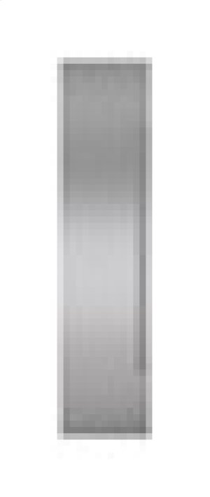 "Built-In 36"" Stainless Steel Flush Inset Freezer Door Panel with Pro Handle"