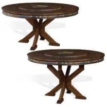 Savannah Dual Height Round Table w/ Lazy Susan