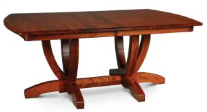Brookfield Double Pedestal Table, Solid Top