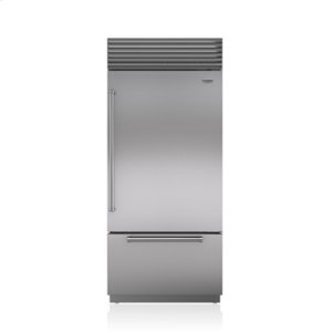 "Sub-Zero36"" Classic Over-and-Under Refrigerator/Freezer with Internal Dispenser"