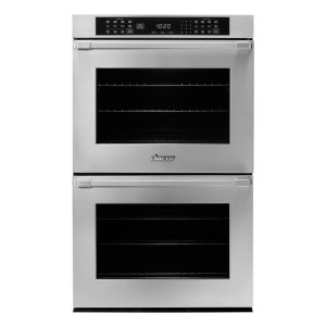 "Dacor27"" Heritage Double Wall Oven in Black Glass - ships with Epicure Style black handle."