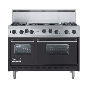 "Graphite Gray 48"" Sealed Burner Self-Cleaning Range - VGSC (48"" wide, four burners & 24"" wide char-grill)"