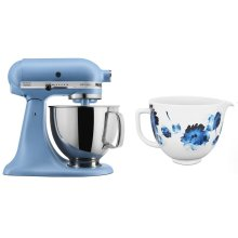 Exclusive Artisan® Series Stand Mixer & Ceramic Bowl Set - Matte Vintage Blue