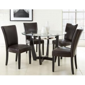 Steve Silver Co.Matinee 5 Piece Set (Glass Top Table & 4 Side Chairs)