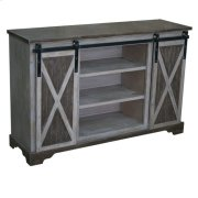 Richland Grey Two Tone Sliding Door Media Console Product Image