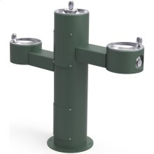 Elkay Outdoor Fountain Tri-Level Pedestal Non-Filtered, Non-Refrigerated Evergreen
