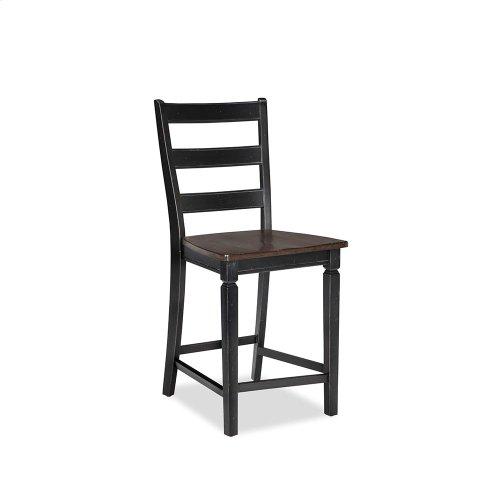 Dining - Glennwood Counter Stool  Black & Charcoal