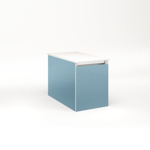"""Cartesian 12-1/8"""" X 15"""" X 21-3/4"""" Single Drawer Vanity In Ocean With Slow-close Full Drawer and No Night Light"""