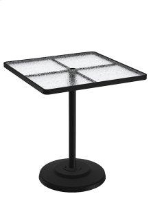 "Acrylic 36"" Square KD Pedestal Bar Umbrella Table"
