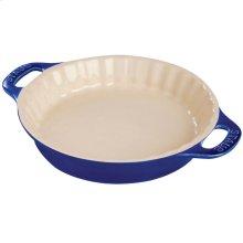 "Staub Ceramics 9"" Pie Dish, Dark Blue"