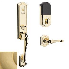 Satin Brass Evolved Bethpage Lever Handleset