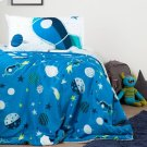 Cosmic Reversible Comforter and Pillowcase - Blue and Gray Product Image