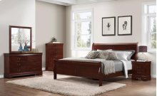 Chablis Cherry LP Queen Bed Group: Queen Bed, Nightstand, Dresser & Mirror